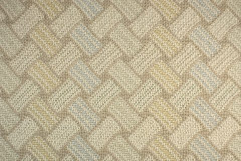 TRIPLE WEAVE - BLUE/TAN/PALE GOLD CARPET
